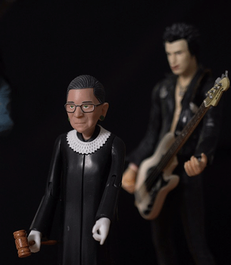 Thought-action figures of Ruth Bader-Ginsburg and Sid Vicious