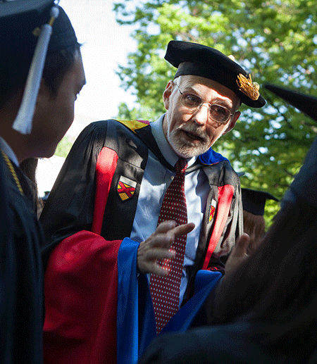 Person in academic robes