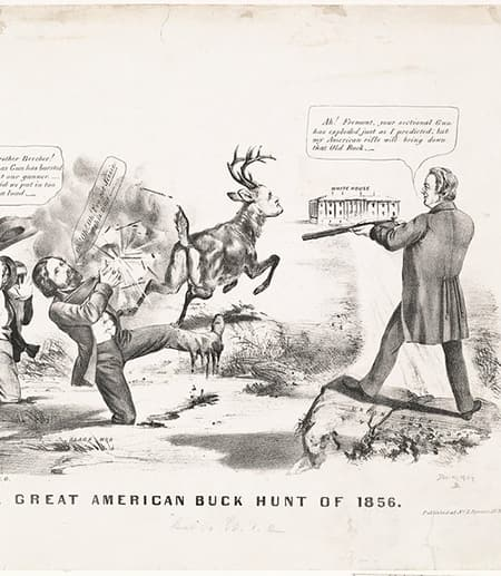 Political cartoon from 1856