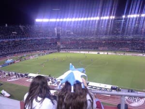 A soccer game between Argentina and Trinidad and Tobago that I attended while in Argentina