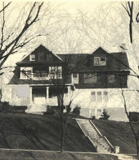 Exterior of original Africana building at 320 Wait Avenue