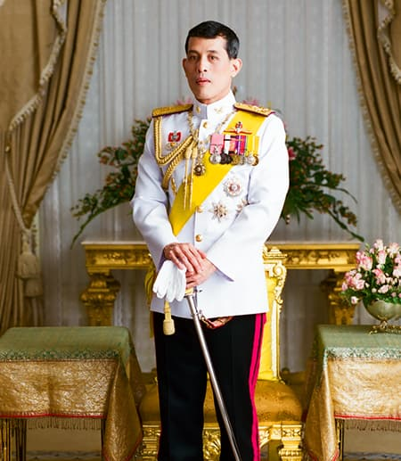 Person posing in royal uniform
