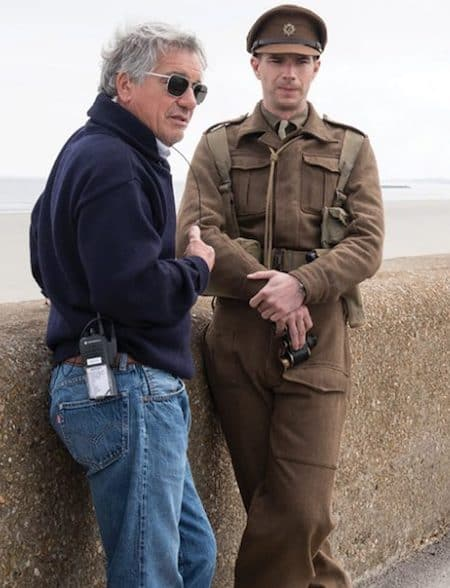 Nilo Otero '76 on the set of Dunkirk