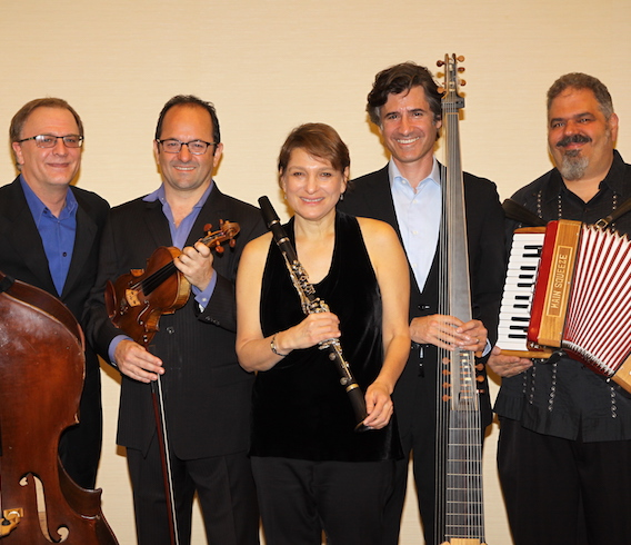 Big Galut(e) Jewish Music Ensemble: Richard Sosinsky, Sasha Margolis, Robin Seletsky, Michael Leopold, Mark Rubinstein