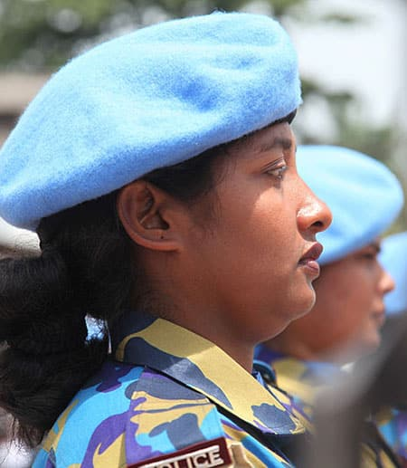 Bangladeshi female police officer
