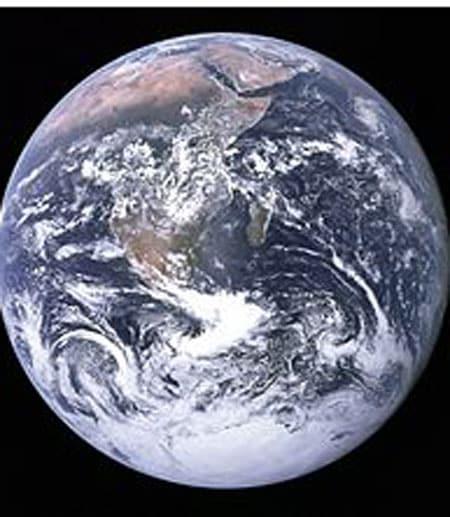Earth as seen from Apollo 17