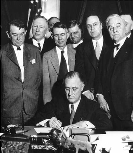 FDR signs Tennesee Valley Authority Act