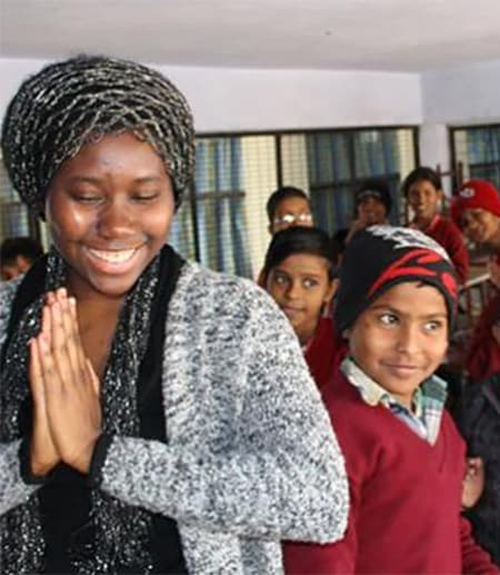 Sujata Singh with students