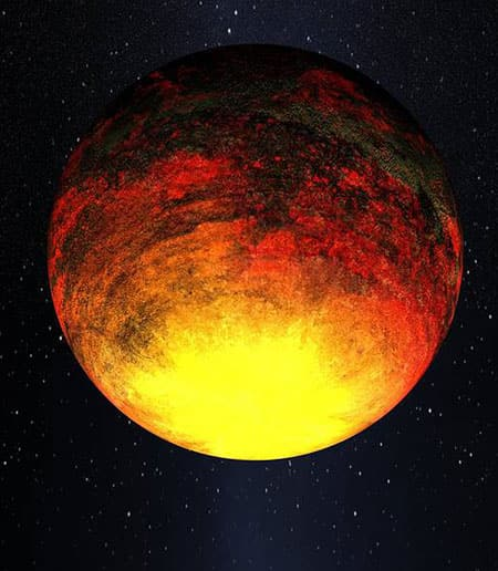 Artist's rendering of Kepler 10b