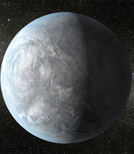 illustration of an exoplanet