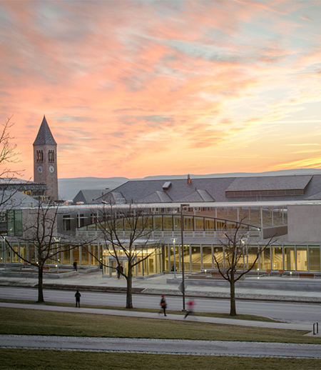 Klarman Hall at sunset