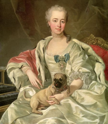 Princess Ekaterina Dmitrievna Golitsyna with her lapdog