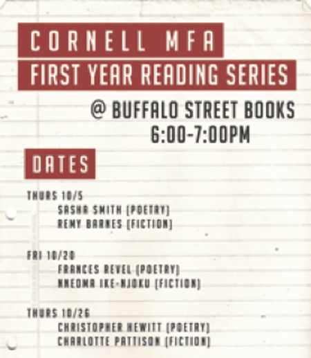 poster for first year writer series