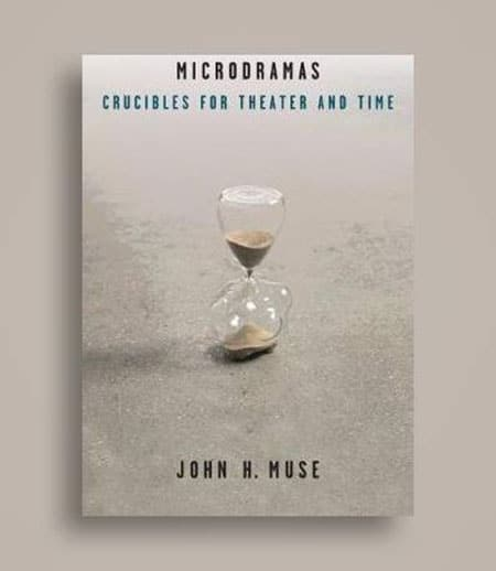 "Cover of ""Microdramas"" with hourglass image"