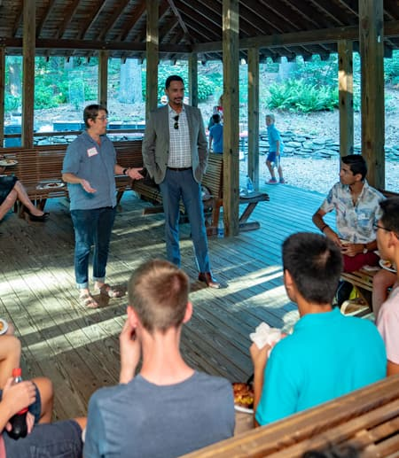 Milstein students welcomed to campus with BBQ, adventures