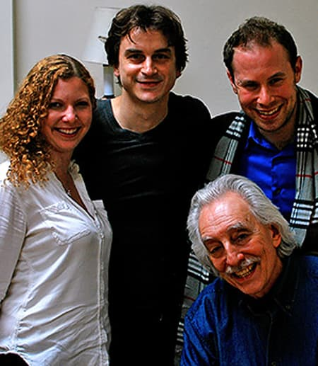 Bruce Levitt, Alex Gruhin '11 and Ariel Reid '09, MMH '10