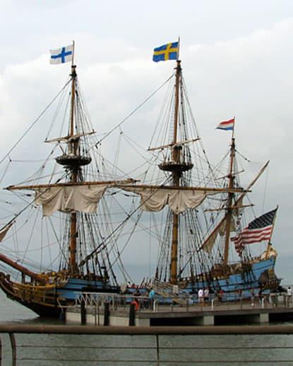 The Kalmar Nyckel, a maritime educational vessel