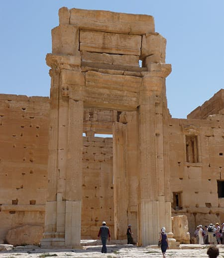 Ancient gate in Palmyra, Syria