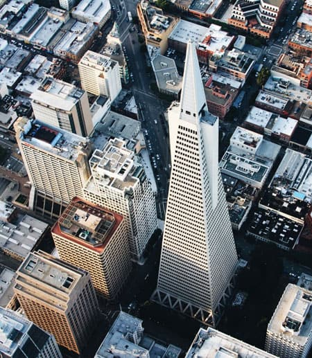 San Francisco downtown from overhead