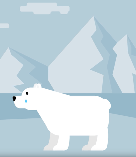 Animation for Patricia Polar Bear, a script written by one of Levine's students