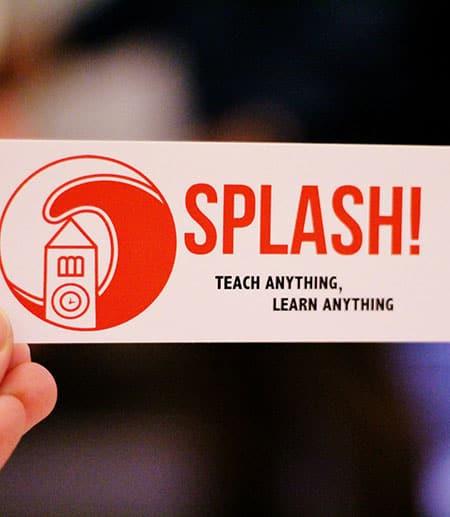 Cornell Splash! sticker