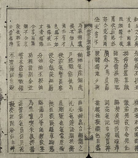 A page from The Tale of Kieu, written by Nguyen Du and first published in 1820