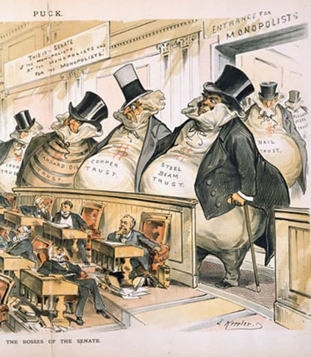 "Cartoon from the Gilded Age of the ""Bosses of the Senate"""
