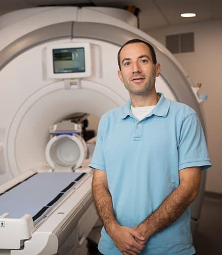 Professor with MRI