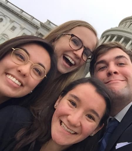Students in front of U.S. Capital