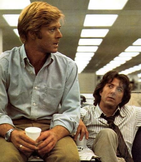 Richard Gere and Dustin Hoffman from All the President's Men