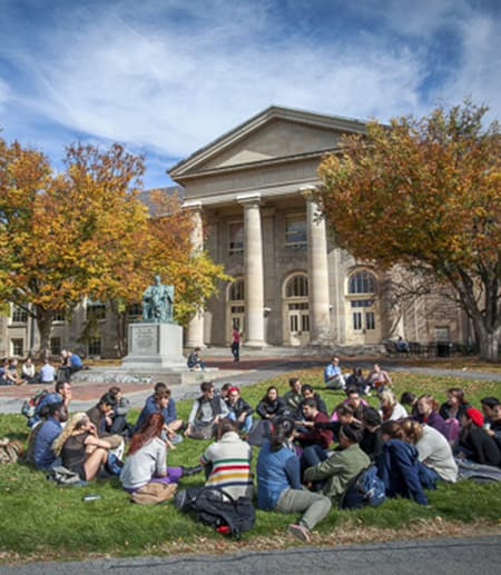 students on the arts quad