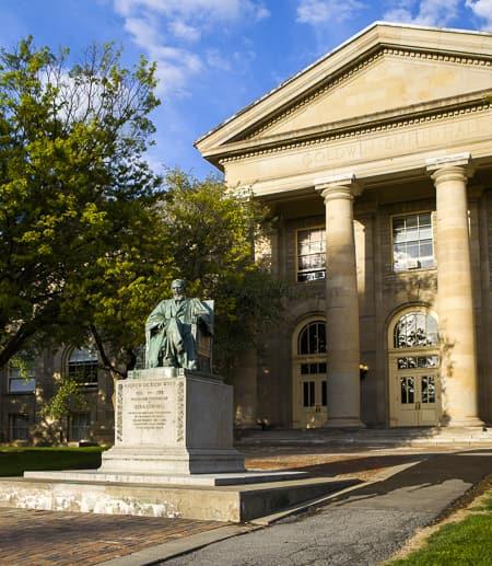 arts quad statue