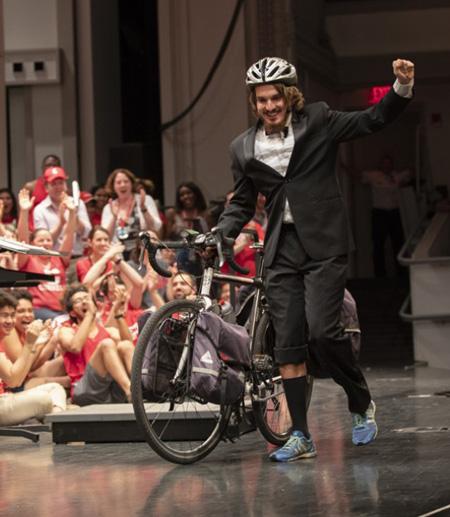 'True Cornellian' ends 10,000-mile cycle tour at Reunion 2018