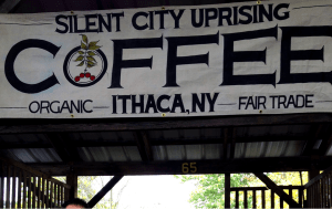 Coffee stand at the Ithaca Farmer's Market