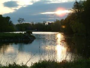 A beautiful sunset on Beebe Lake.