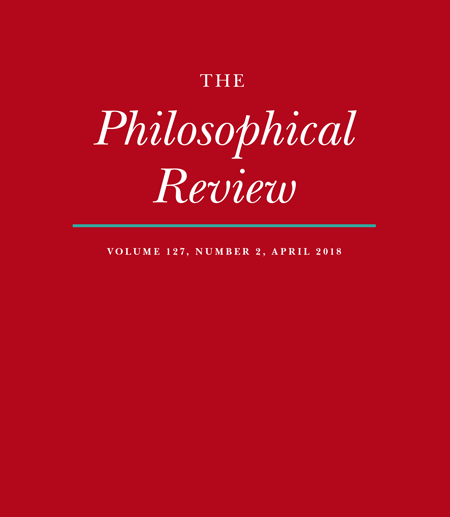 Front cover of the Philosophical Review