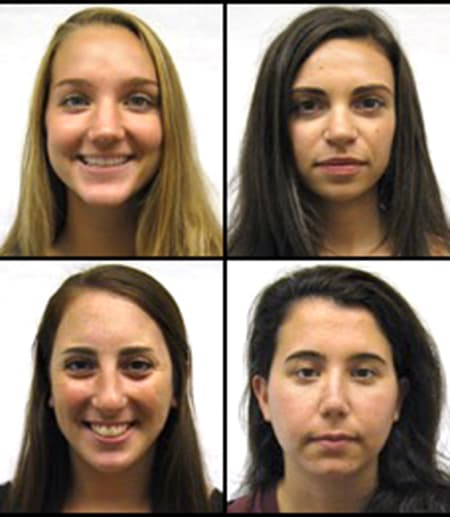 four female faces