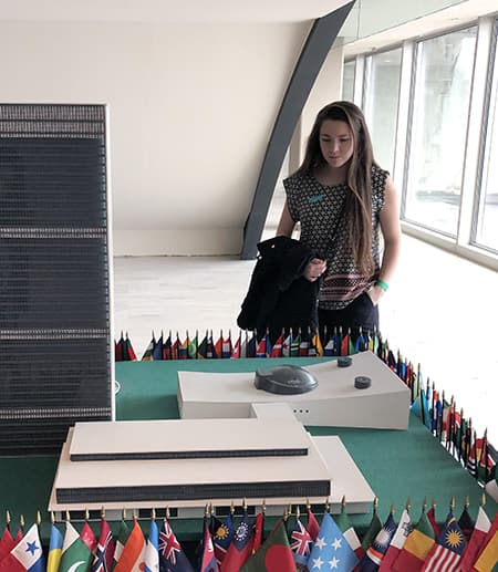 Cornell student visting the United Nations