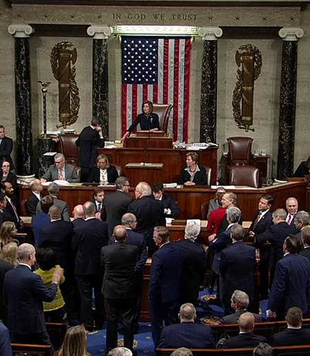 House votes to impeach Trump