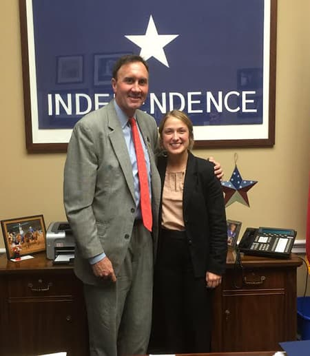 Chelsea Sincox with Rep. Pet Olson
