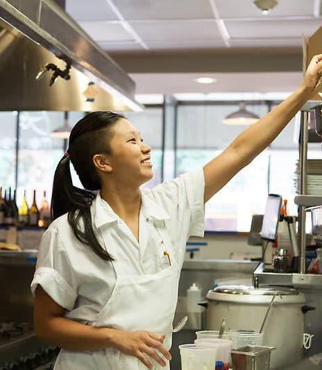 Alumna Irene Li at her restaurant Mei Mei