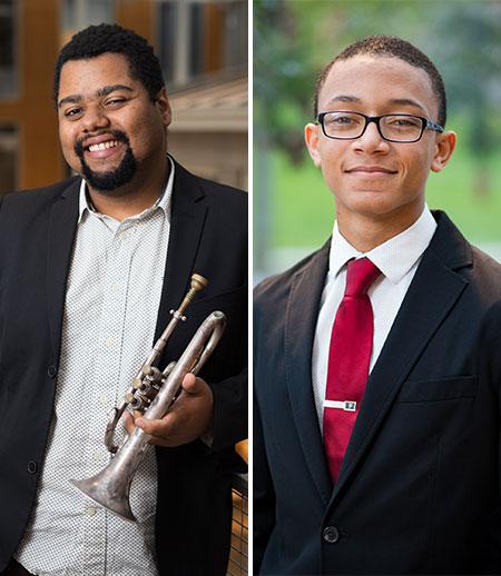 Jazz students Cosimo L. Fabrizio and Colin Hancock