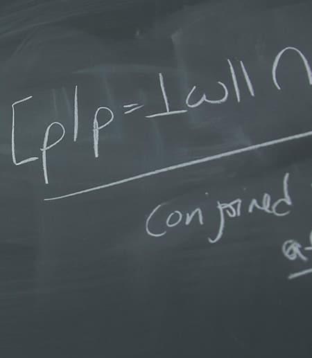Writing on a chalkboard