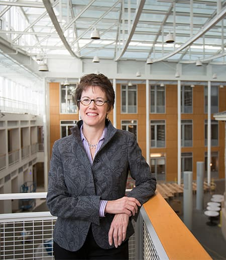 Dean Gretchen Ritter in Klarman Hall