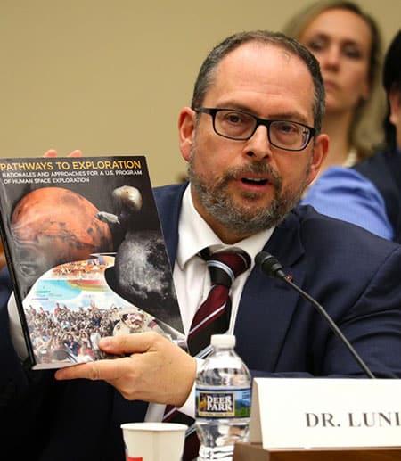 Jonathan Lunine testifies at hearing