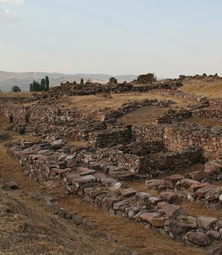 The Waršama Palace site at Kültepe, where some wood-samples were collected for research.