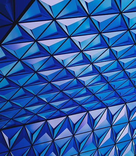 Geometric pattern of blue triangles