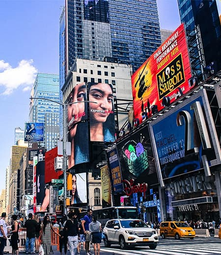 Billboards at Times Square