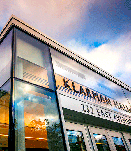 Klarman Hall in the College of Arts and Sciences
