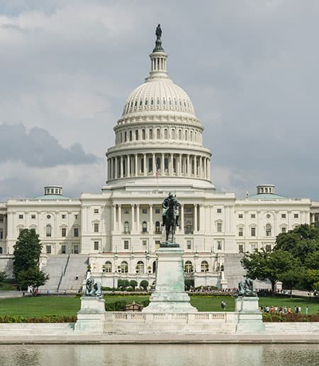 Front of the U.S. Capitol building